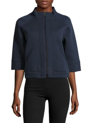 Zip-Front Cropped Ultramarin Jacket by Max Mara Leisure