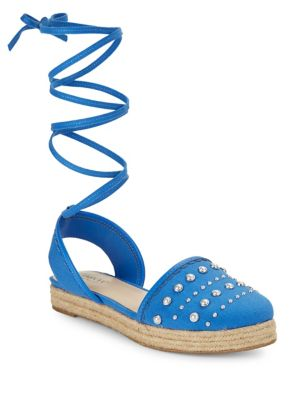 Hilda Lace-Up Espadrille Sandals by IMNYC Isaac Mizrahi