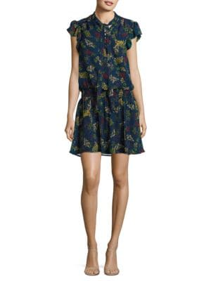 Floral Silk Blouson Dress by Ella Moss