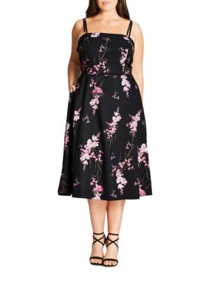Plus Riviera Romance Holiday Romance Dress by City Chic