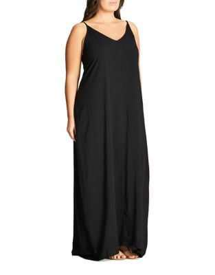 Plus Sleeveless Maxi Dress by City Chic