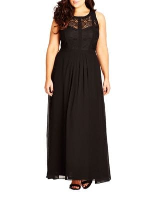 Plus Lace A-Line Gown by City Chic