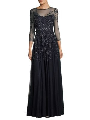 Beaded Embroidered Gown by Theia