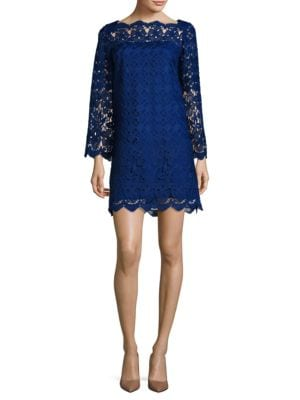 Photo of Adrianna Papell Scalloped Lace Shift Dress