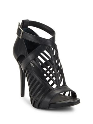 Buy Nadia Leather Cage Heels by Calvin Klein online