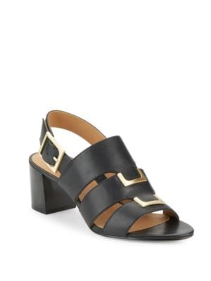 Neda Leather Dress Sandals by Calvin Klein