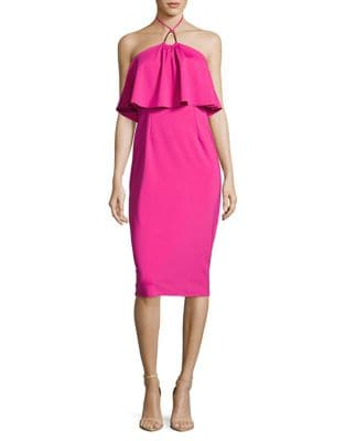 Soozy Popover Neoprene Halter Dress by Trina Turk
