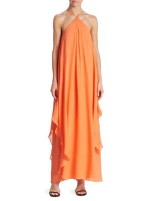 Ginger Silk Georgette Maxi Dress by Trina Turk