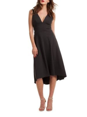 Josefina Solid V-Neck Dress by Trina Turk