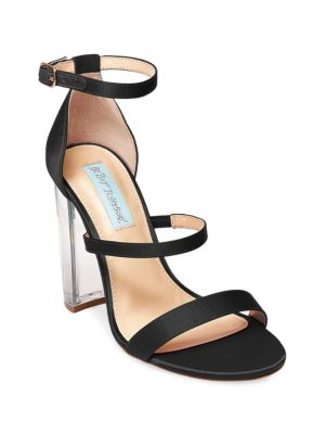 Dafne Satin Chunky Heel Sandals by Betsey Johnson