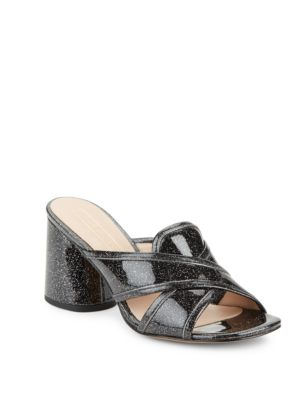 Aurora Glitter Block Heel Sandals by Marc Jacobs