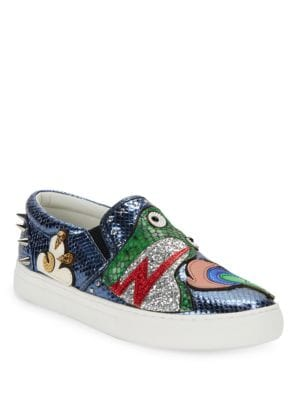 Mercer Frog Leather Skate Sneakers by Marc Jacobs