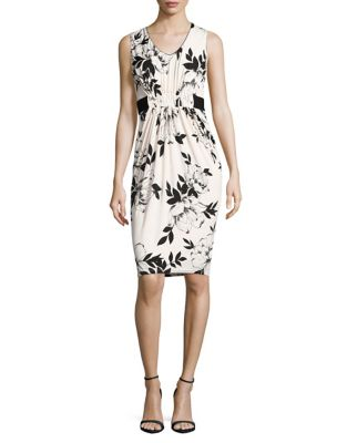 Floral V-Neck Dress by Phase Eight