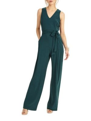 Oralie Solid Belted Jumpsuit by Phase Eight