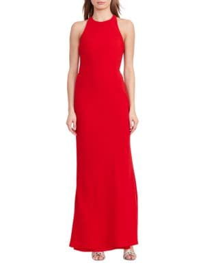 Photo of Lauren Ralph Lauren Cut-out Back Crepe Gown