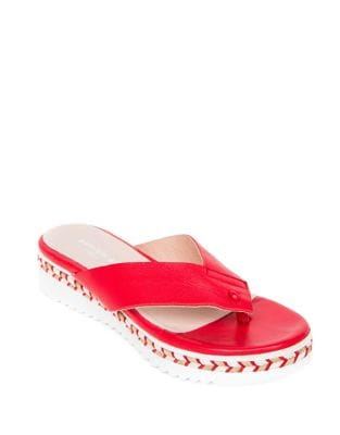 Brooklyn Leather Thong Sandals by Patricia Green
