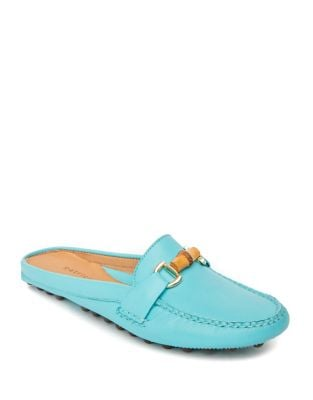 Island Leather Loafer Mules by Patricia Green