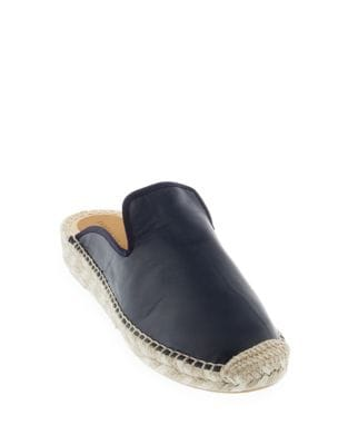 Allison Leather Espadrille Slides by Patricia Green