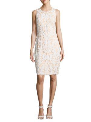 Sequined Sleeveless Dress by J Kara