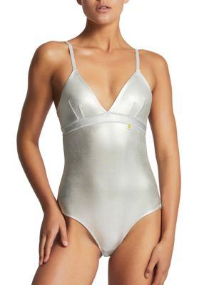 Metallic Bodysuit by Elle Macpherson Body