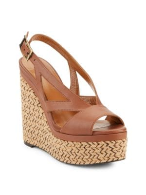 Buy Carly Leather Espadrille Platform Sandals by Aquatalia online