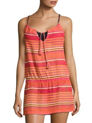 Playa Stripe Blouson Cover-Up Dress by Polo Ralph Lauren