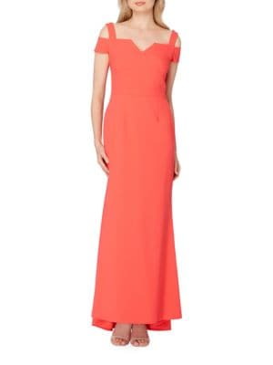 Cold Shoulder Trumpet Gown by Tahari Arthur S. Levine