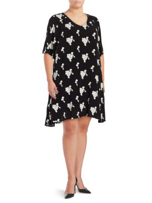 Back Cutout Embroidered Swing Dress by Context