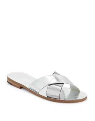 Ally Metallic Criss Cross Slide Sandals by Botkier New York