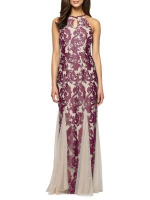 Brocade Halter Gown by Alex Evenings