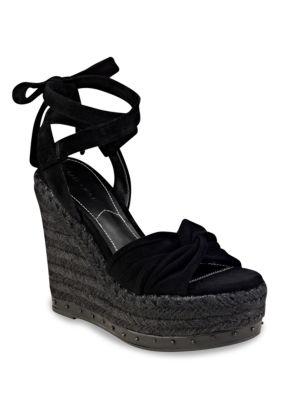 Grayce Suede Espadrille Platform Sandals by KENDALL + KYLIE