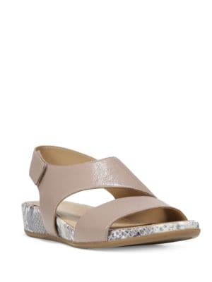 Yessica Leather Wedge Sandals by Naturalizer
