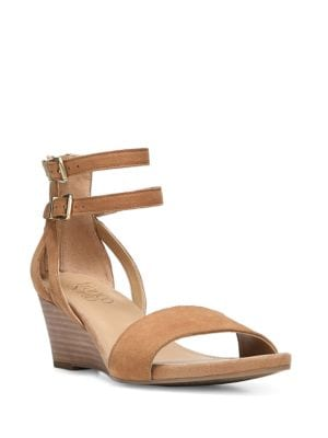 Danissa Leather Ankle Strap Sandals by Franco Sarto