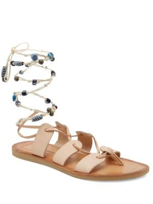 Jalen Leather Flat Sandals by Dolce Vita