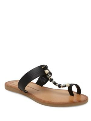 Jude Leather Flat Sandals by Dolce Vita