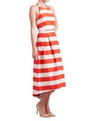 Gobi Striped Roundneck Dress by Paper Crown