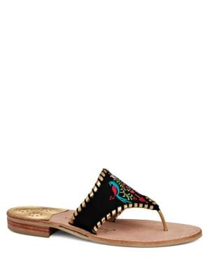 Embroidered Open-Toe Sandals by Jack Rogers