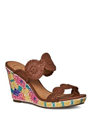 Livvy Embroidered Wedge Sandals by Jack Rogers