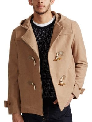 Marine Melton Duffle Coat by French Connection