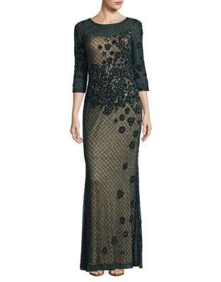 Embellished Gown by Basix