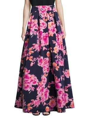 Floral-Print Pleated Skirt by Eliza J