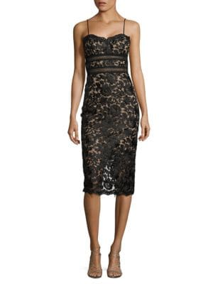 Sweetheart Floral-Lace Dress by Xscape