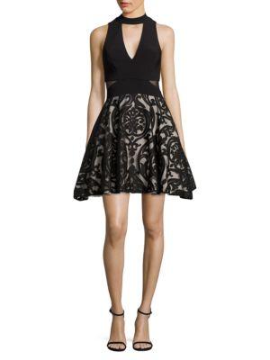 Flared Choker Dress by Xscape