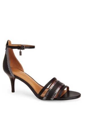 Maxine Calf Leather Heel Sandals by COACH