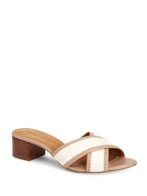 Murielle Leather Slide Sandals by COACH