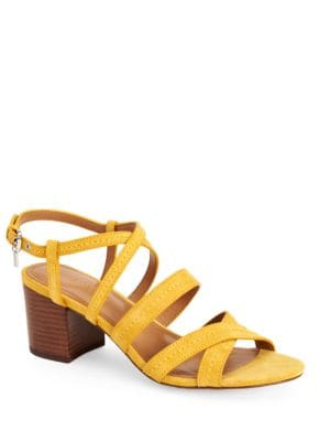 Terri Suede Block Heel Sandals by COACH