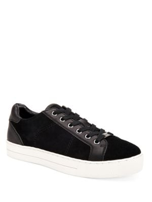 Paddy Suede and Leather Lace-Up Sneakers by COACH