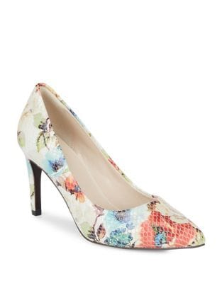 Amelia Grand Floral-Print Leather Pumps by Cole Haan
