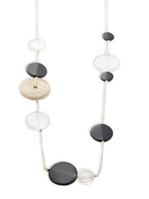 Disc Beaded Scatter Necklace...