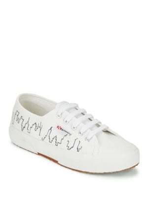 Skyline Lace-Up Sneakers by Superga